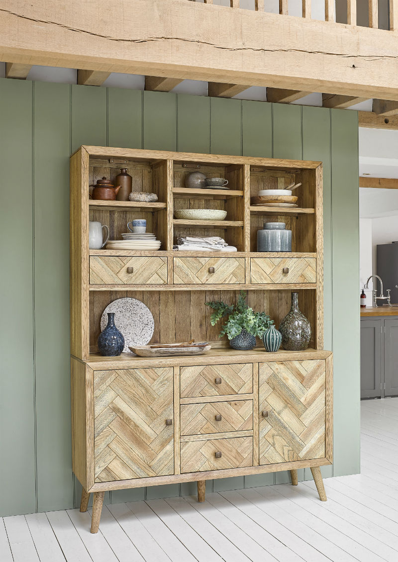 parquet patterned welsh dresser