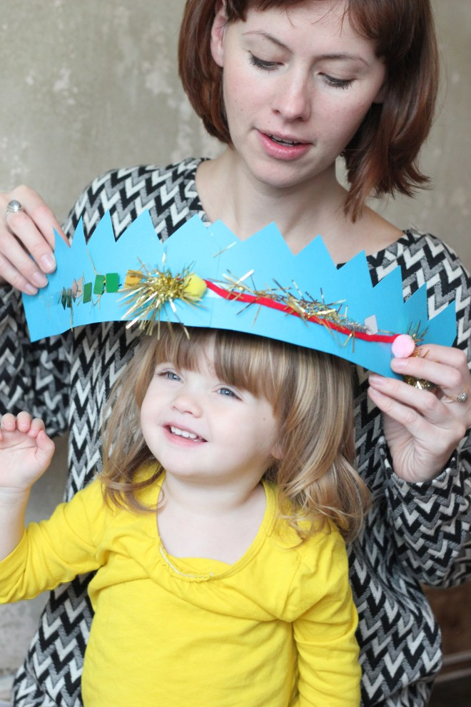 Christmas hats diy kids craft