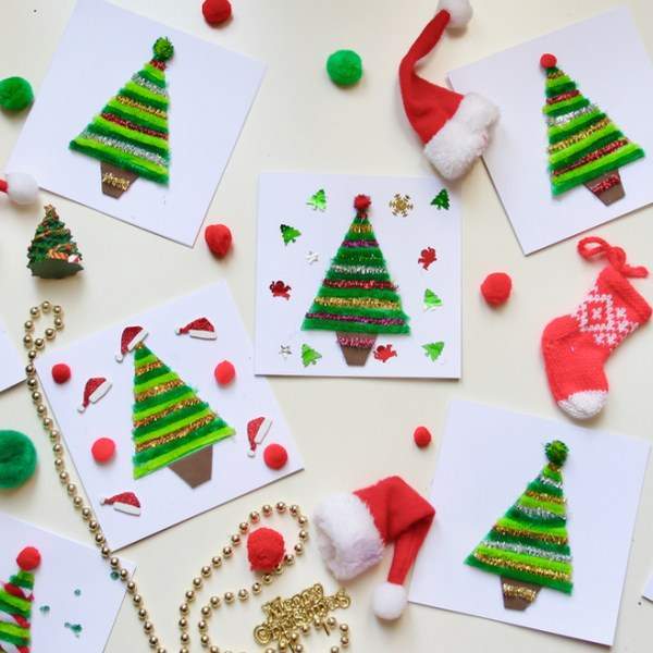 kids diy christmas cards