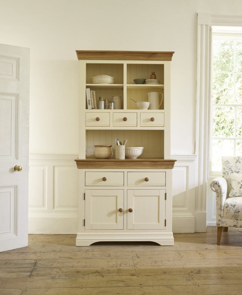 cream and oak traditional style welsh dresser
