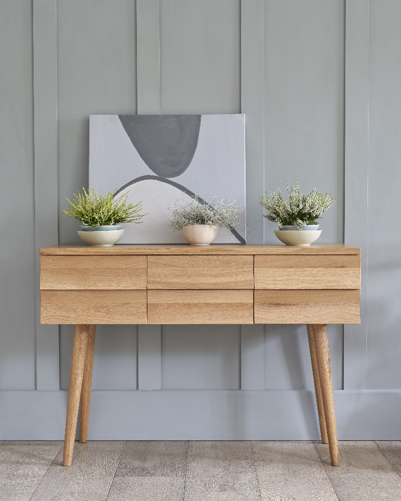 scandinavian style minimal console table