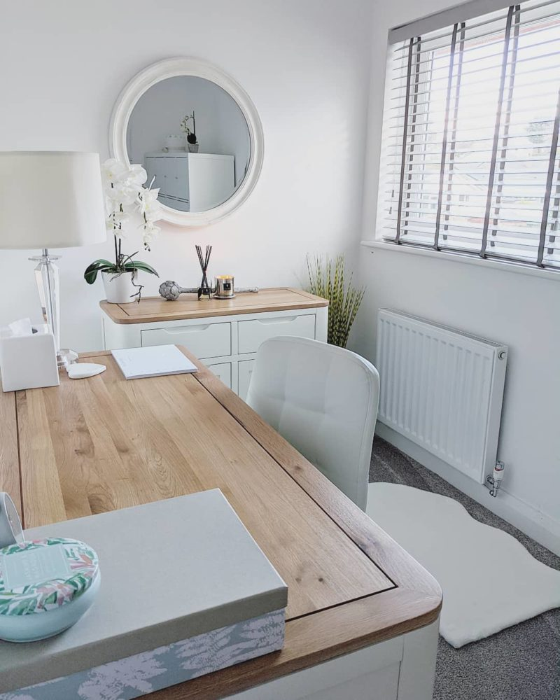 matching white dining table and sideboard