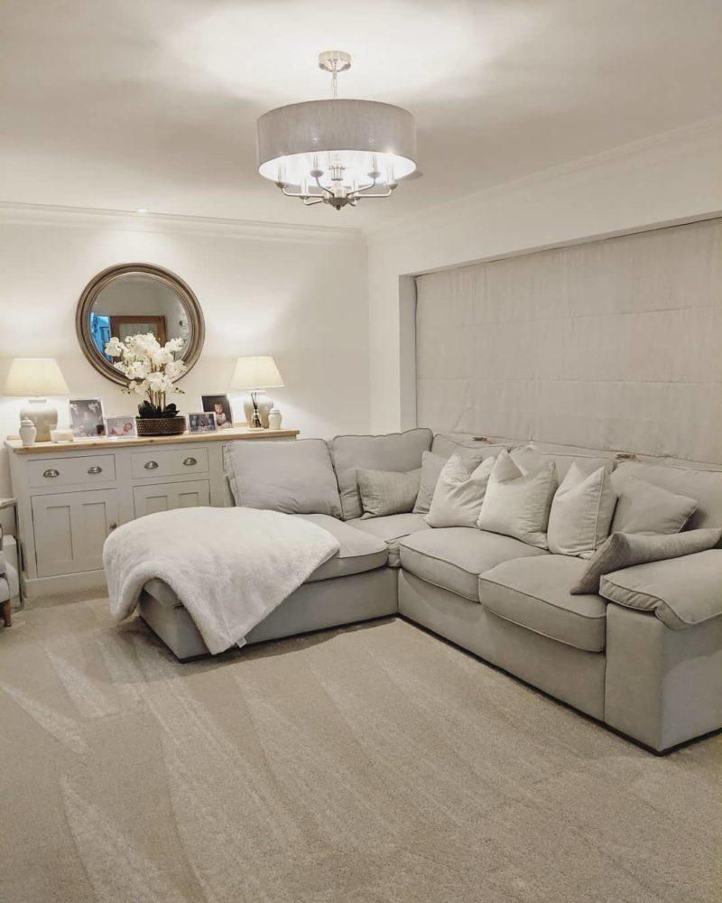grey themed living room