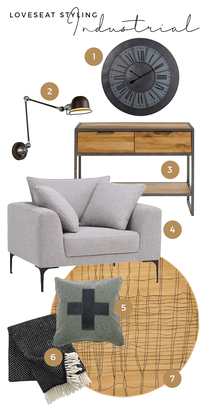 Industrial Loveseat styling