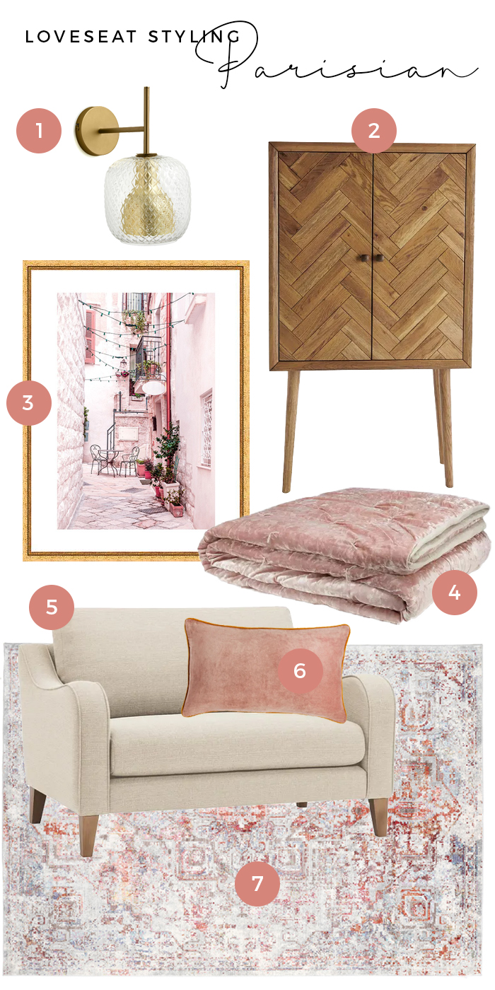 Parisian Loveseat styling