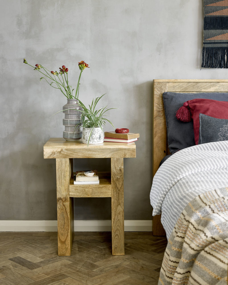 rustic inspired bedroom interiors