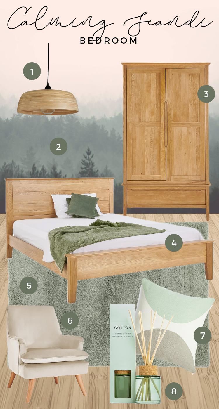 copenhagen bedroom moodboard