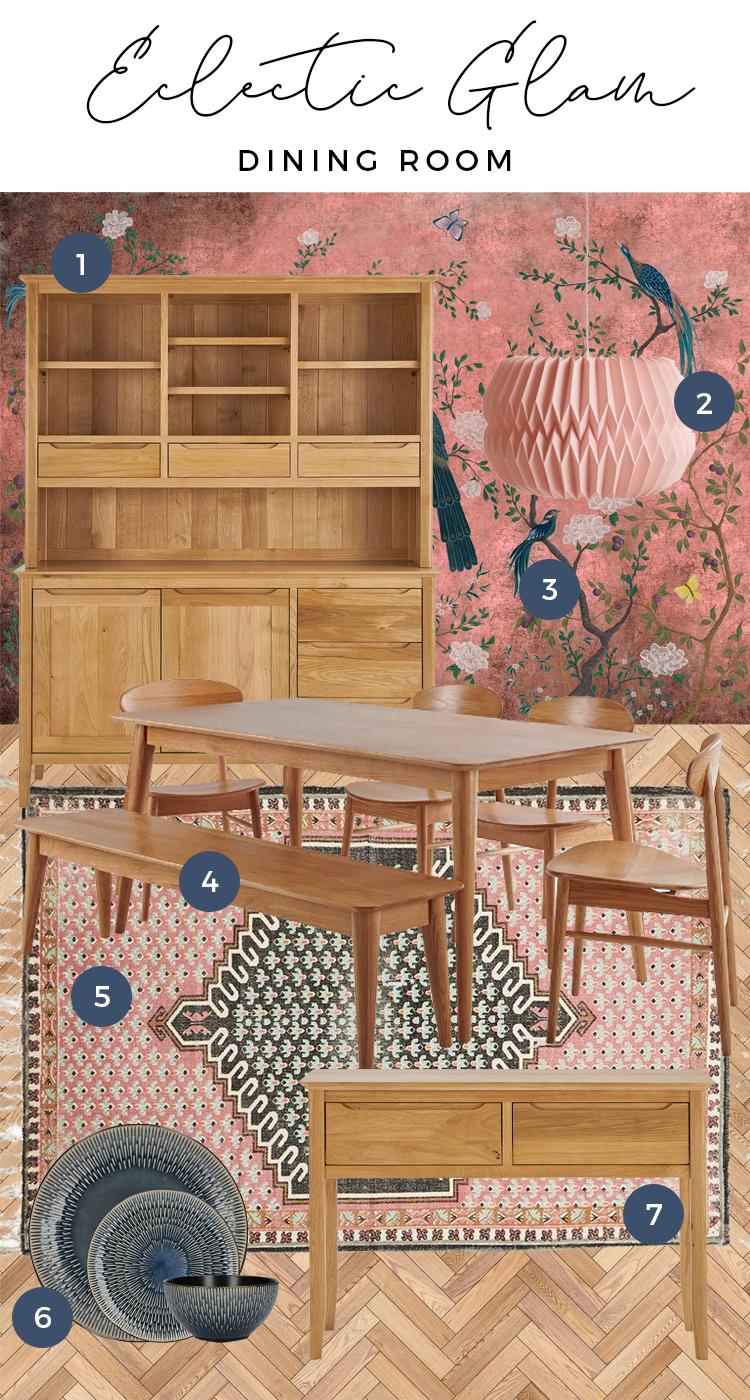 Copenhagen Range Dining Room moodboard