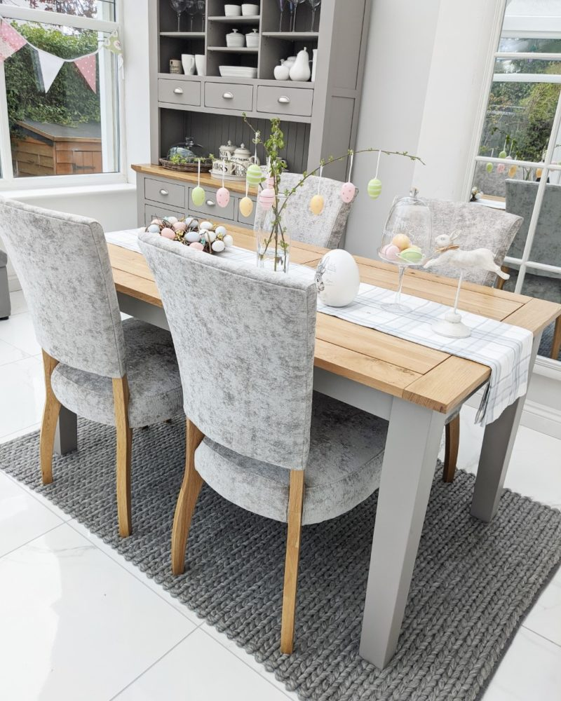 Easter grey painted dining table