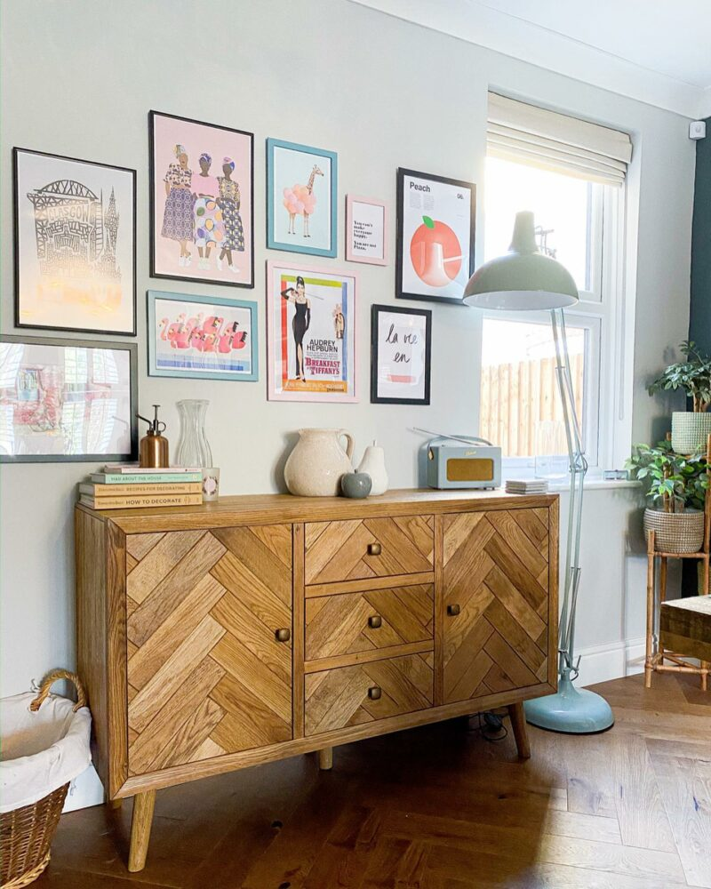 Parquet large sideboard