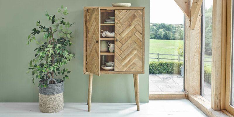 Parquet drinks cabinet