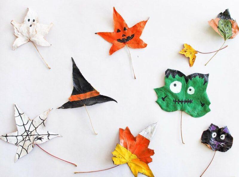 Halloween autumn leaves decor