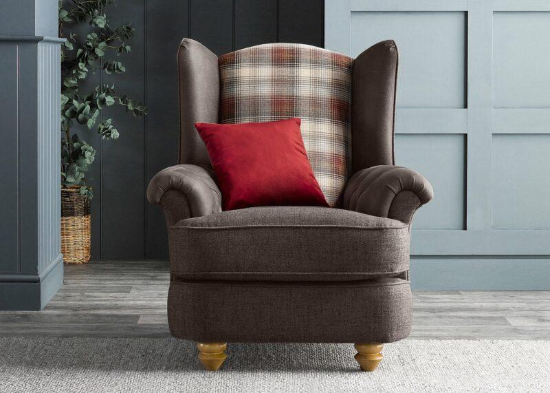 Dexter brown accent chair