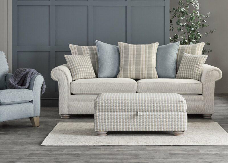 Pastel tone Hampton sofa
