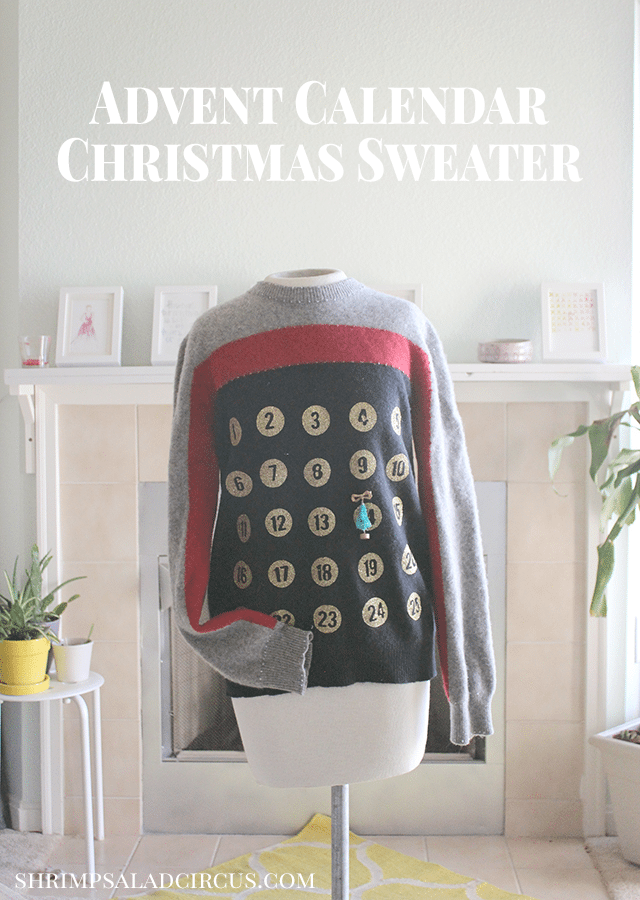 Wearable Christmas Advent Jumper