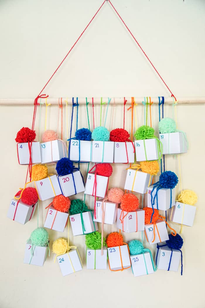 Pom-Pom Box Advent Calendar