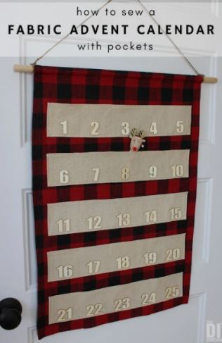 Fabric Advent Calendar with pockets