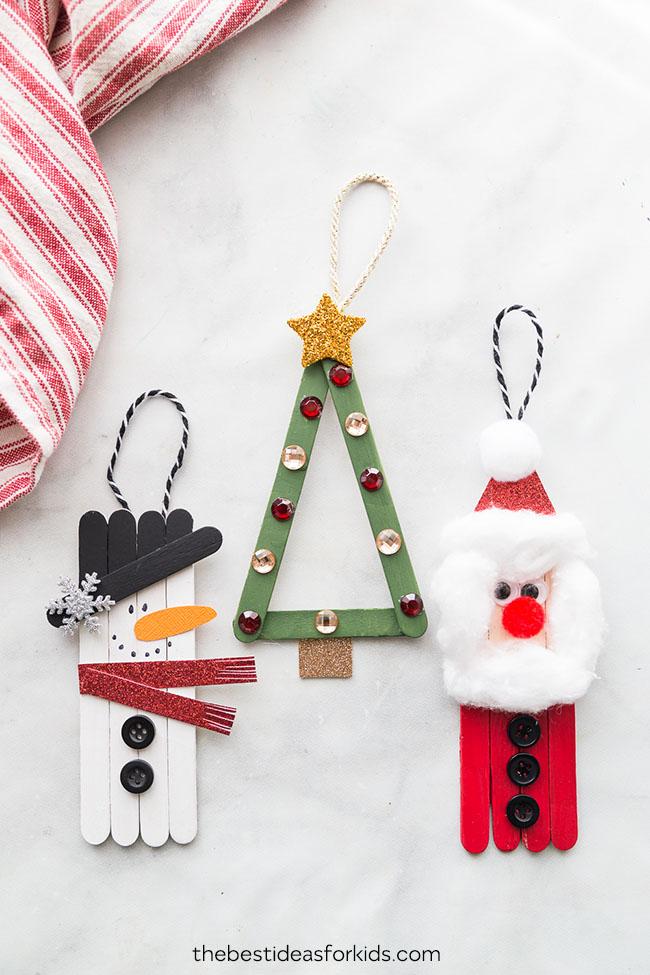 Christmas - Popsicle stick Christmas ornaments