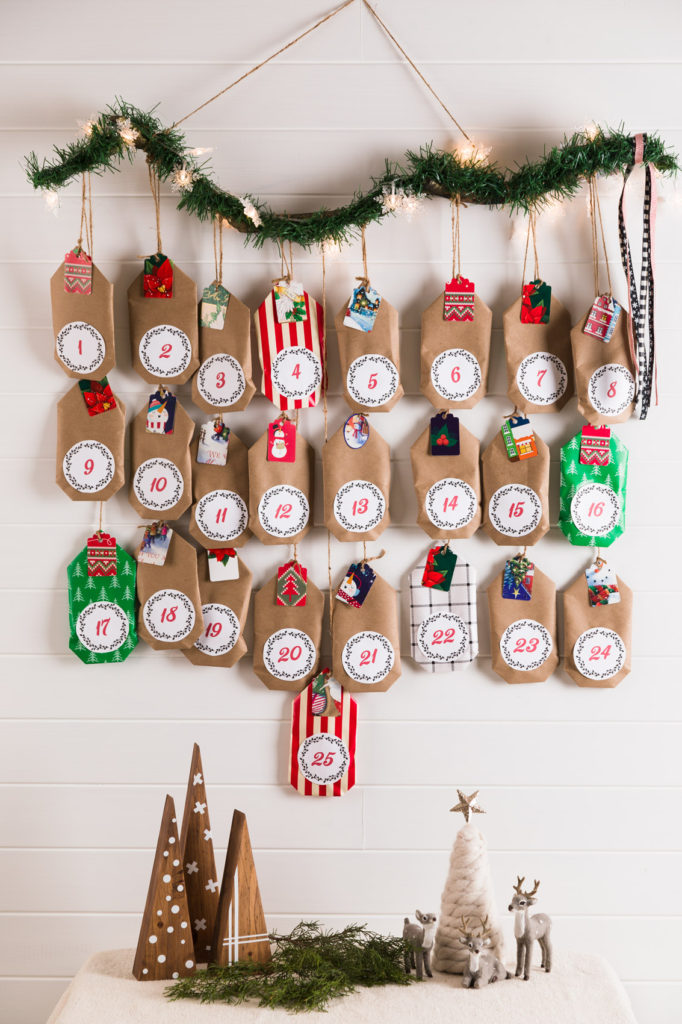 DIY Wall Hanging Advent with Kraft Paper