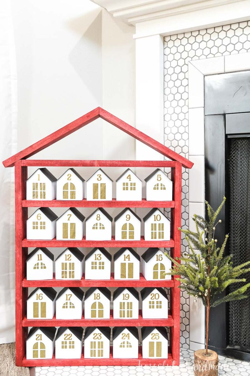 Wood House Advent Calendar