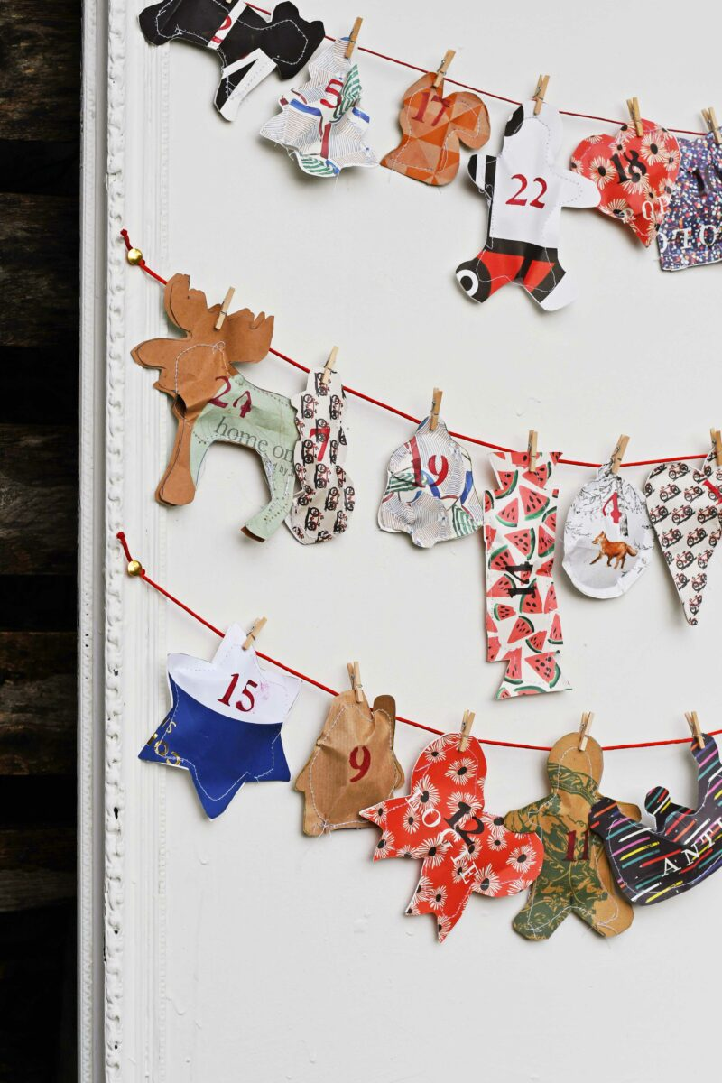 Upcycled Paper Bag Advent Calendar