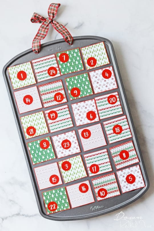 Muffin Tin Advent Calender