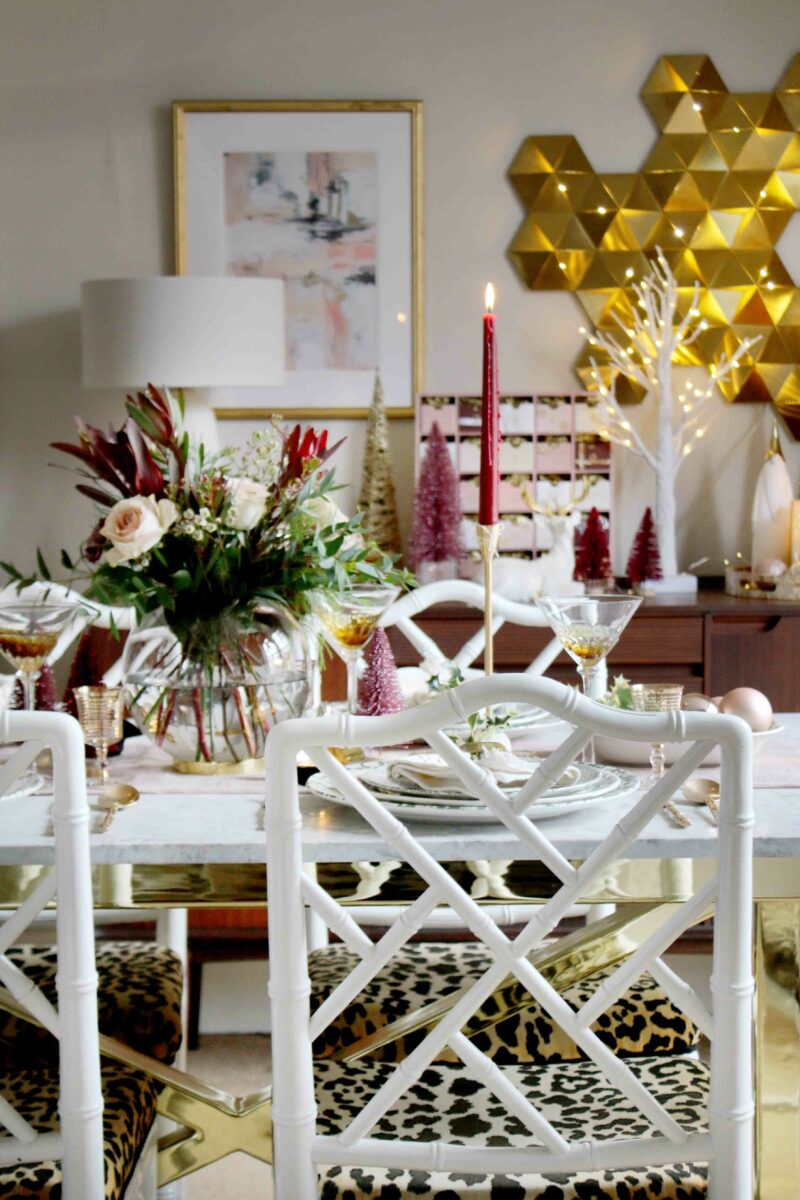 Mixing Old and New on Your Christmas Table