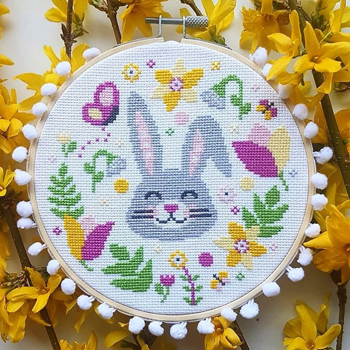 Easter cross-stitching