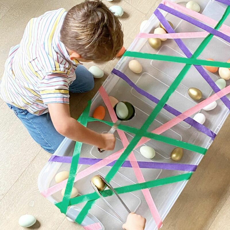 Indoor Easter egg hunt in a box