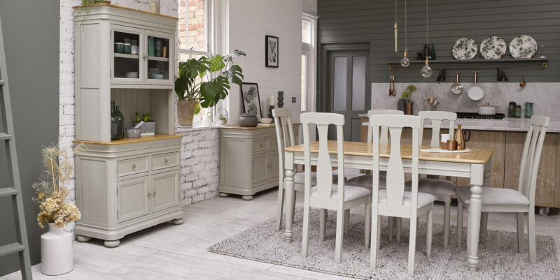 Bringle grey painted oak dining room