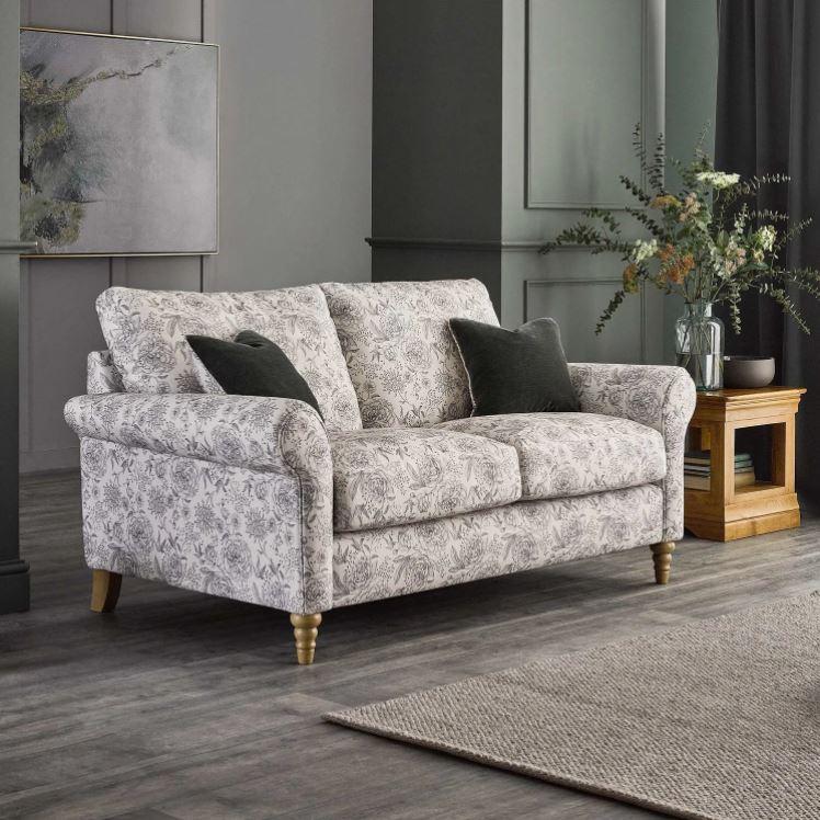 Bramble grey floral sofa