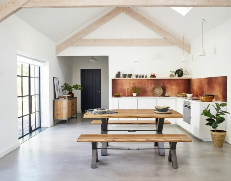 Brooklyn industrial style dining table