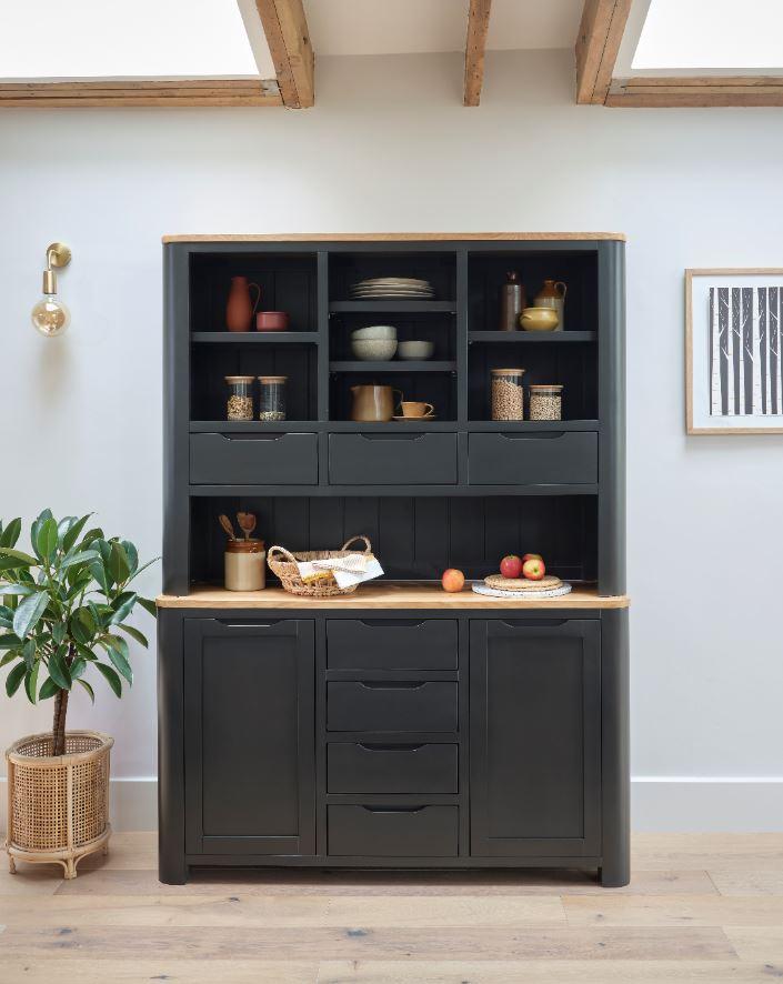 Grove dark grey oak dresser