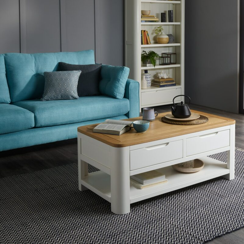 HOve coffee table in grey living room