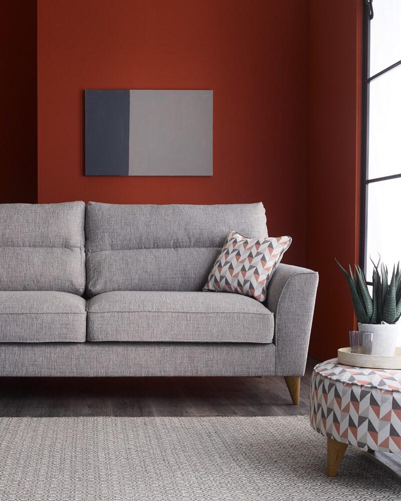 Jensen grey fabric sofa