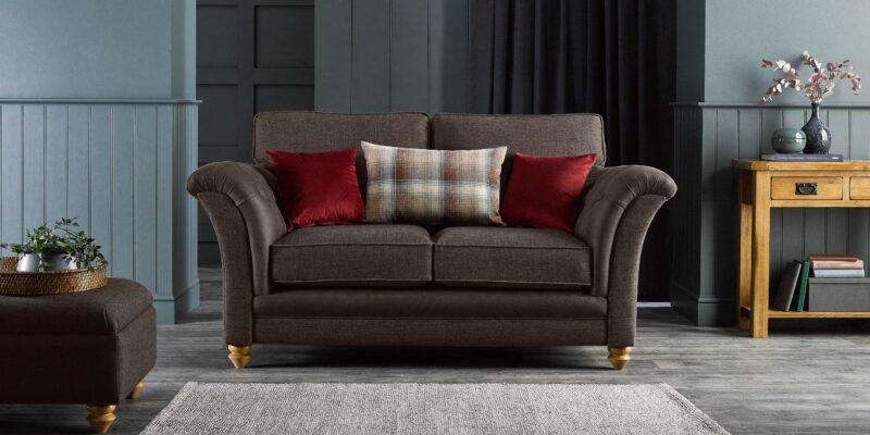 Dexter Brown fabric sofa