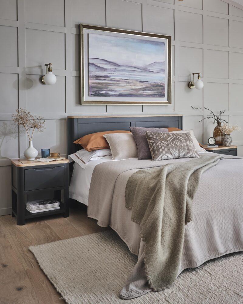 dark grey painted oak furniture bedroom