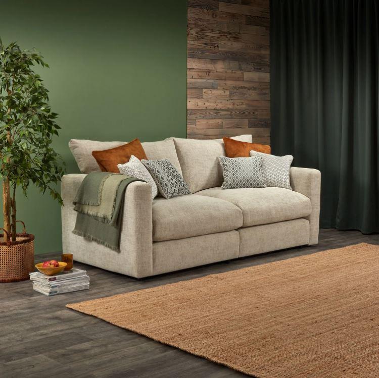 Malvern Modular beige two seater sofa