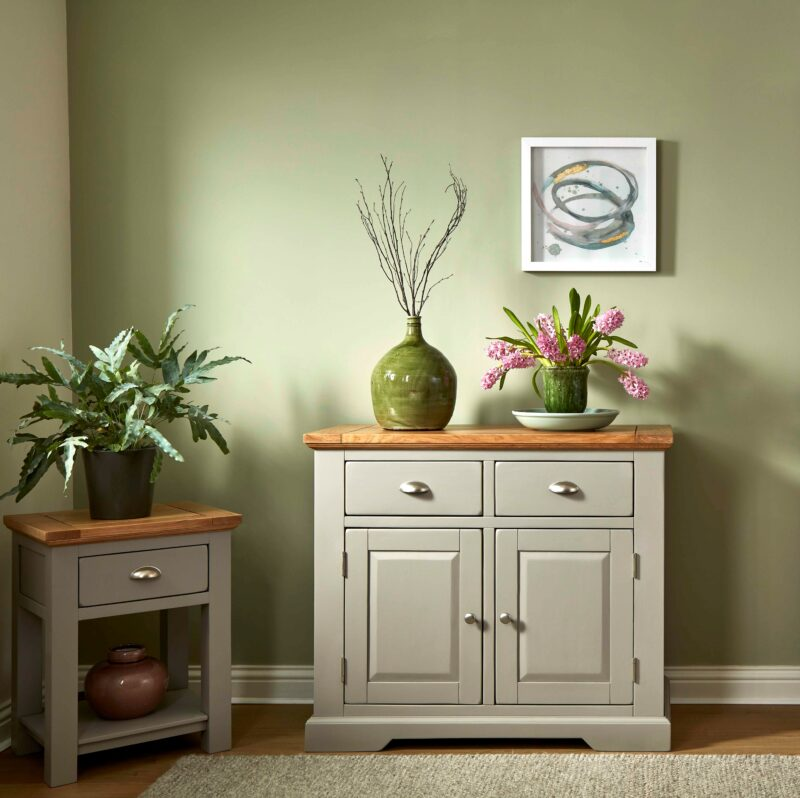 St ives grey painted solid oak sideboard and