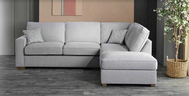 Texas grey fabric corner sofa