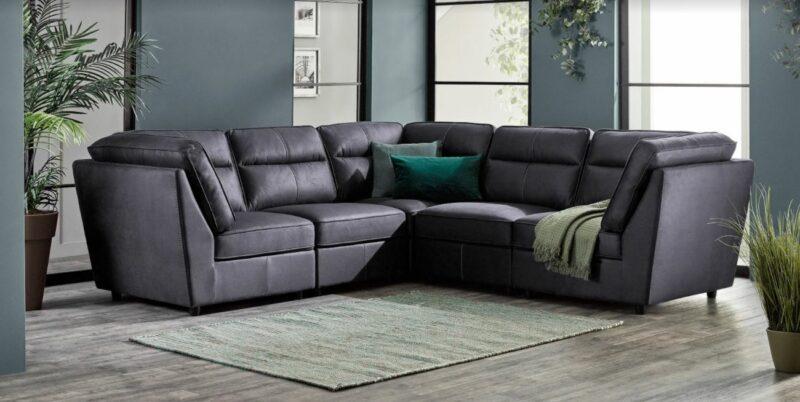 Zociac leather corner sofa