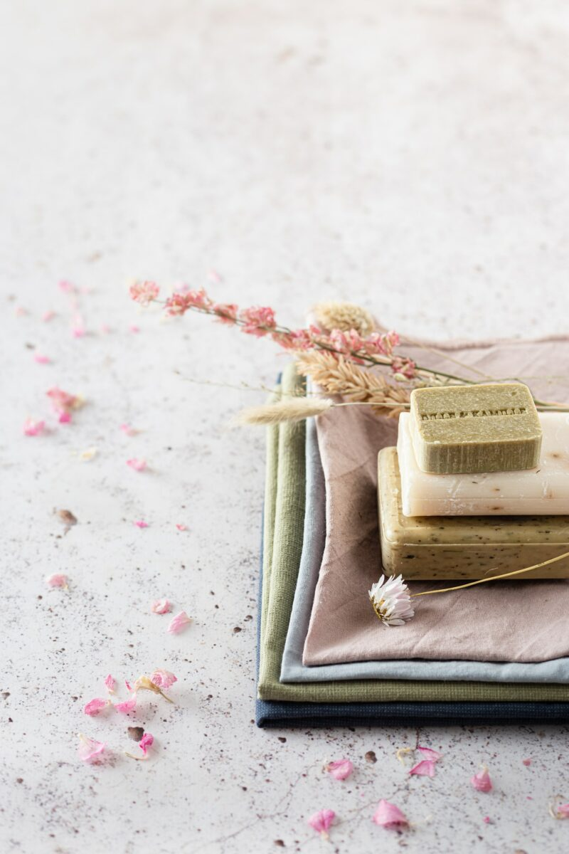 floral scent soap