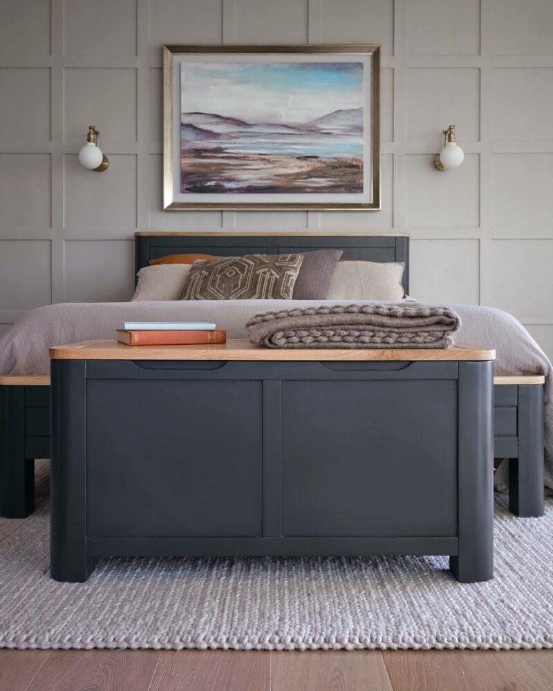 Grove dark painted Oak bedroom