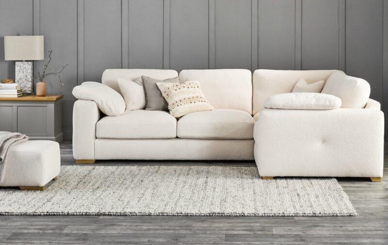 Opal ivory cream corner sofa