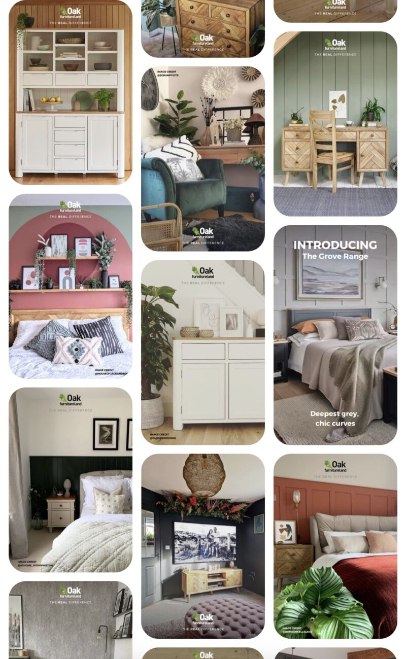 Oak Furnitureland Pinterest inspiration board
