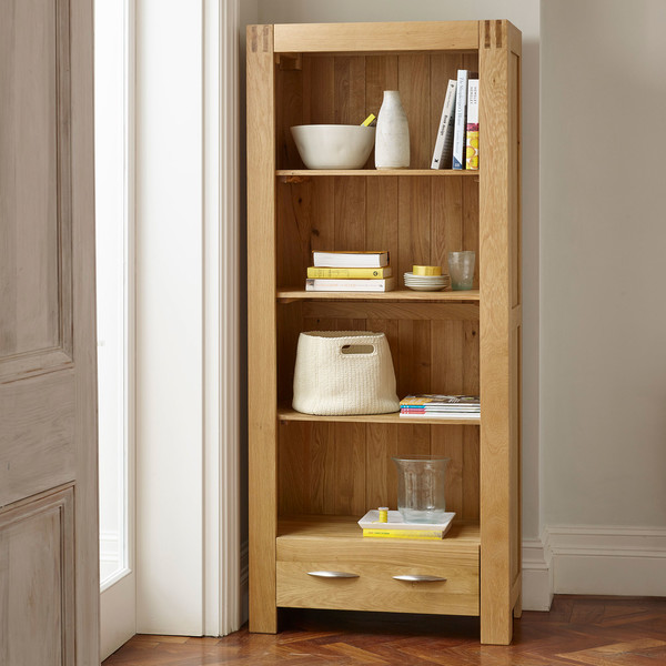 Alto Natural Solid Oak Tall Bookcase thumbnail