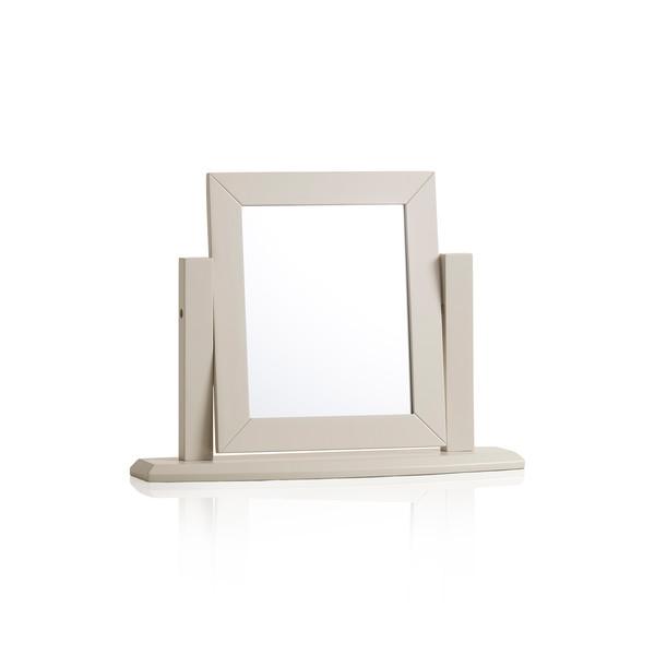 Arlette Grey Dressing Table Mirror In Painted Hardwood thumbnail