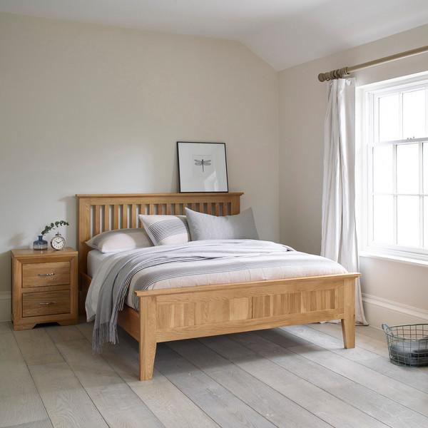Bevel Solid Oak 4ft 6 Double Bed thumbnail