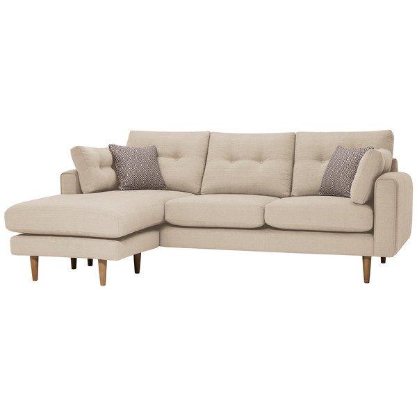 Parchment Fabric Sofas Left Hand Chaise Sofa Brighton Range Oak Furnitureland