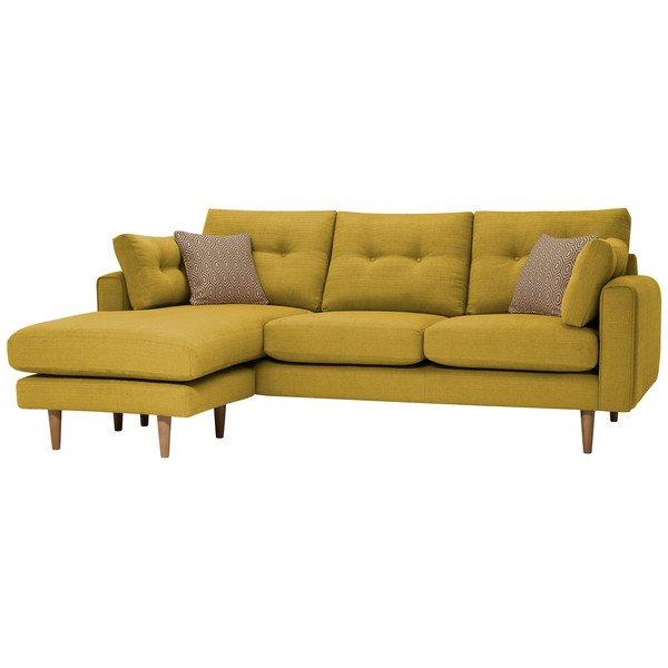 Saffron Fabric Sofas Left Hand Chaise Sofa Brighton Range Oak Furnitureland
